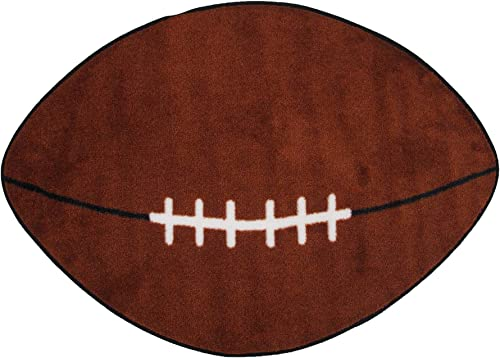 Fun Rugs Fun Time Shape Football Home Decorative Accent Area Rug 28″X45″
