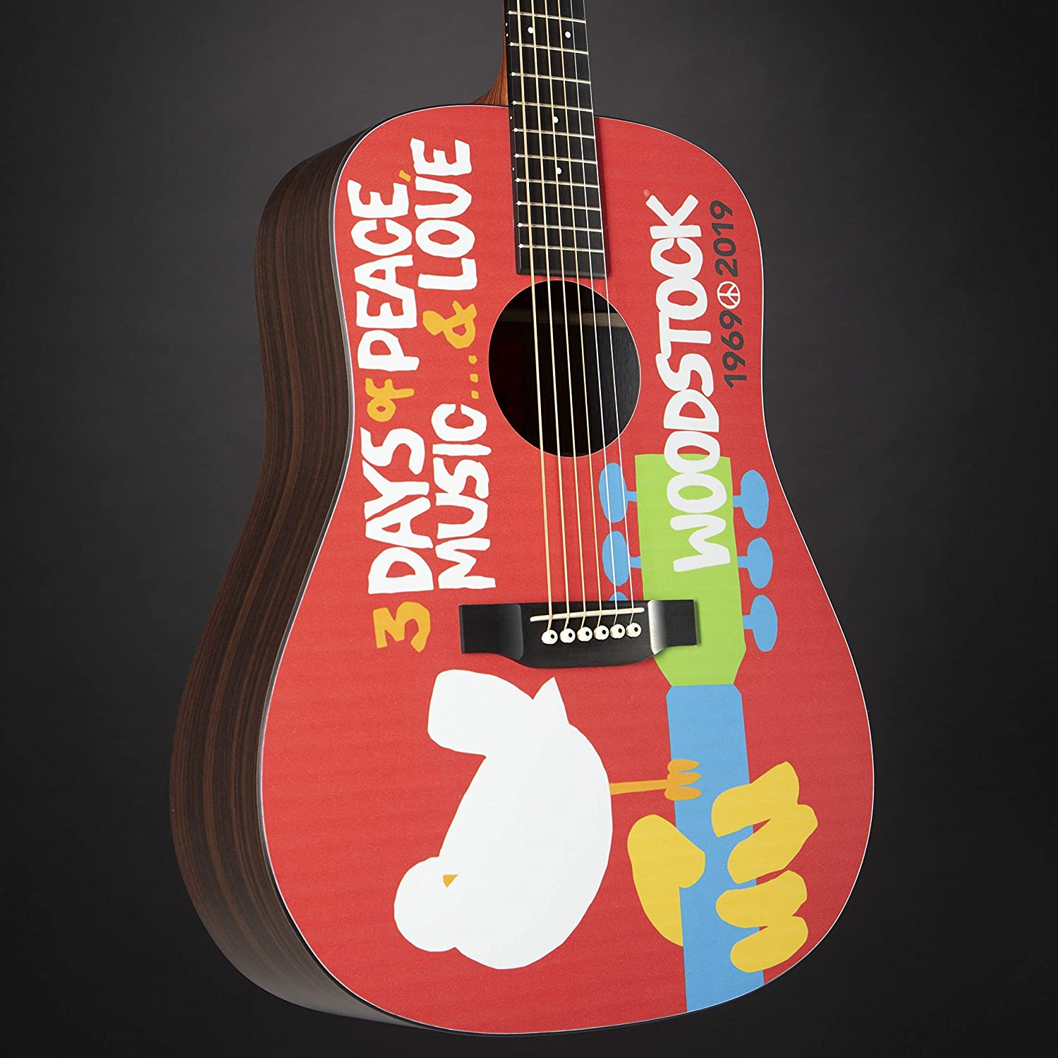 Martin DX Woodstock 50th Anniversary - Diseño de madera: Amazon.es ...
