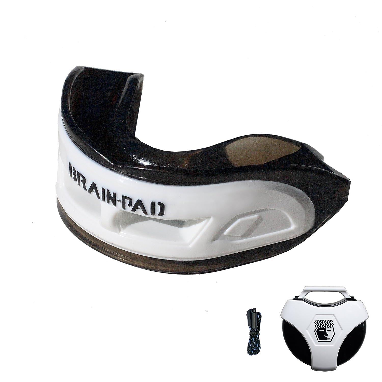 Brain-Pad - 3XS Paradenti a doppio arco/Protezione per l'articolazione della mascella per adulti bianco-nero - Bianco/nero, taglia unica Brain-Pad 3XS Adult White-Black 3XSWP