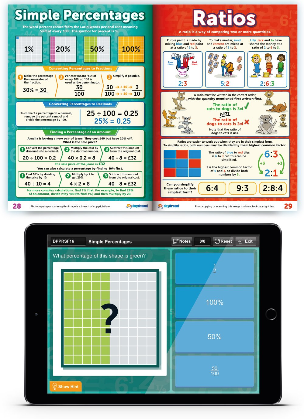 KS2 Maths Study Guide - Pocket Posters: The Pocket-Sized Revision ...