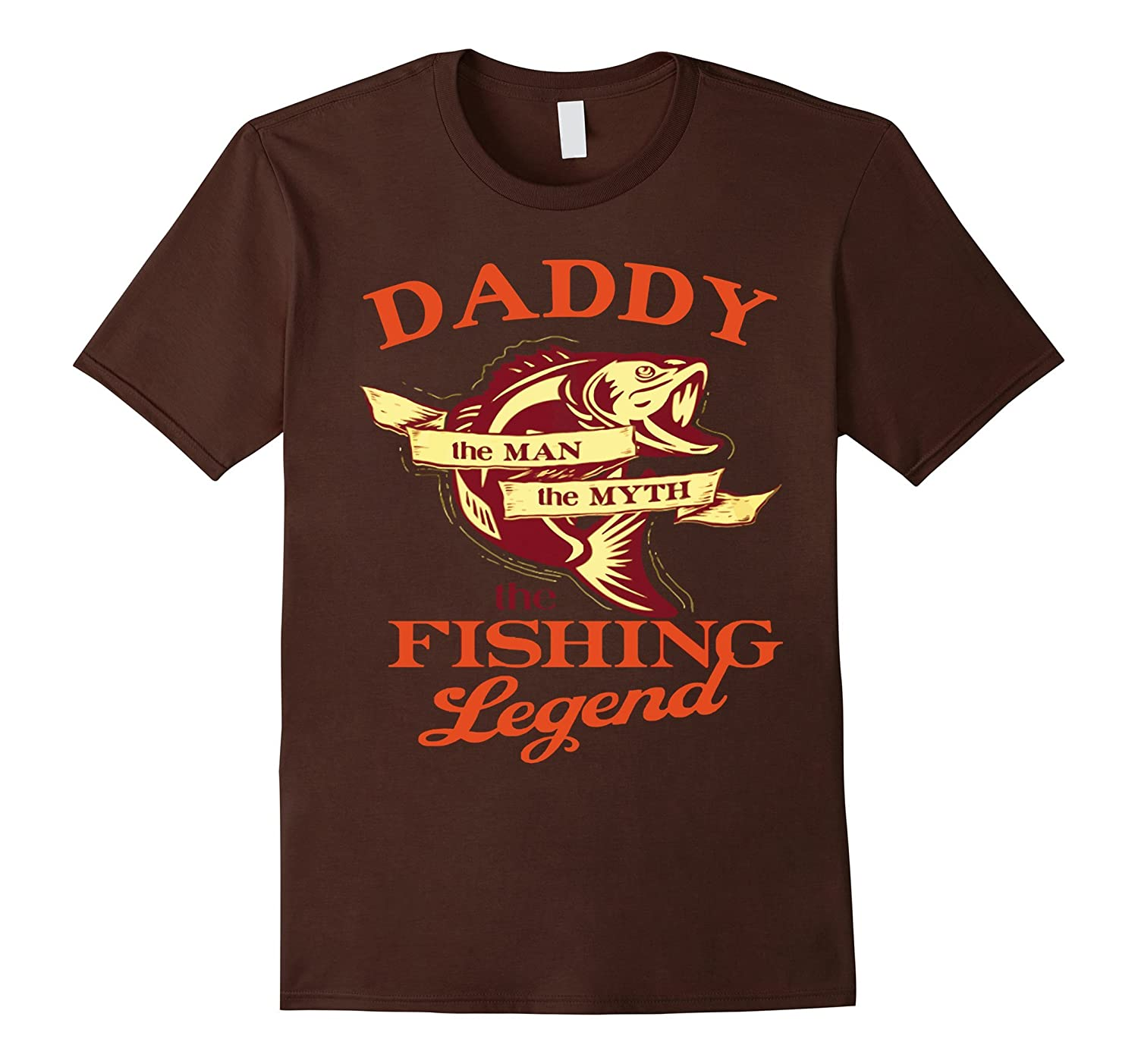 Mens Dad shirt DADDY - THE MAN THE MYTH THE FISHING LEGEND shirt-RT