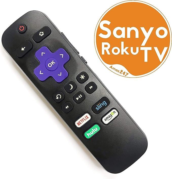 SANYO ROKU - Mando a Distancia de Repuesto para televisor con Control de Volumen y botón de Encendido de TV: Amazon.es: Electrónica
