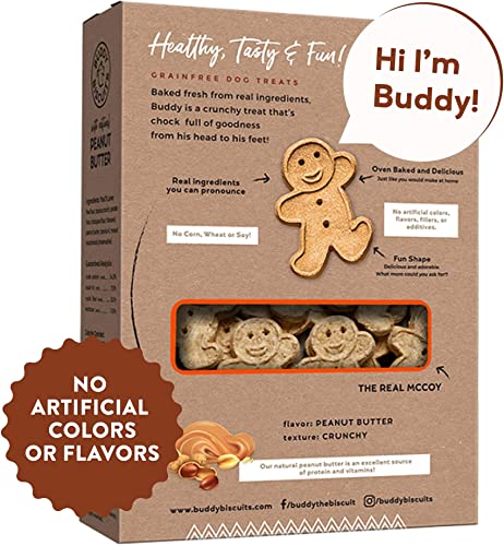 Buddy Biscuits, Grain Free Oven Baked Crunchy Teeny Treats for Small or Toy Breed Dogs, Baked in USA