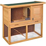 """Tangkula Wooden Chicken Coop 35"""" Hen House Rabbit Wood Hutch Poultry Cage Waterproof"""