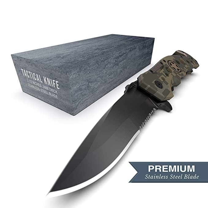 Swiss Safe Cuchillo táctico 3-en-1 del Ejército y militares ...