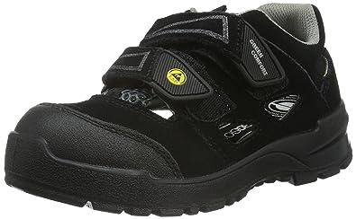 Sanita Esd-Maja-S1P Leather Sandal, Zapatos de Seguridad Unisex Adultos, Negro (Black 2), 42 EU