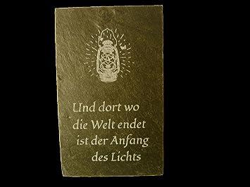 Schiefertafel Mit Spruch Schieferschild Wandschmuck Wandspruch Zum