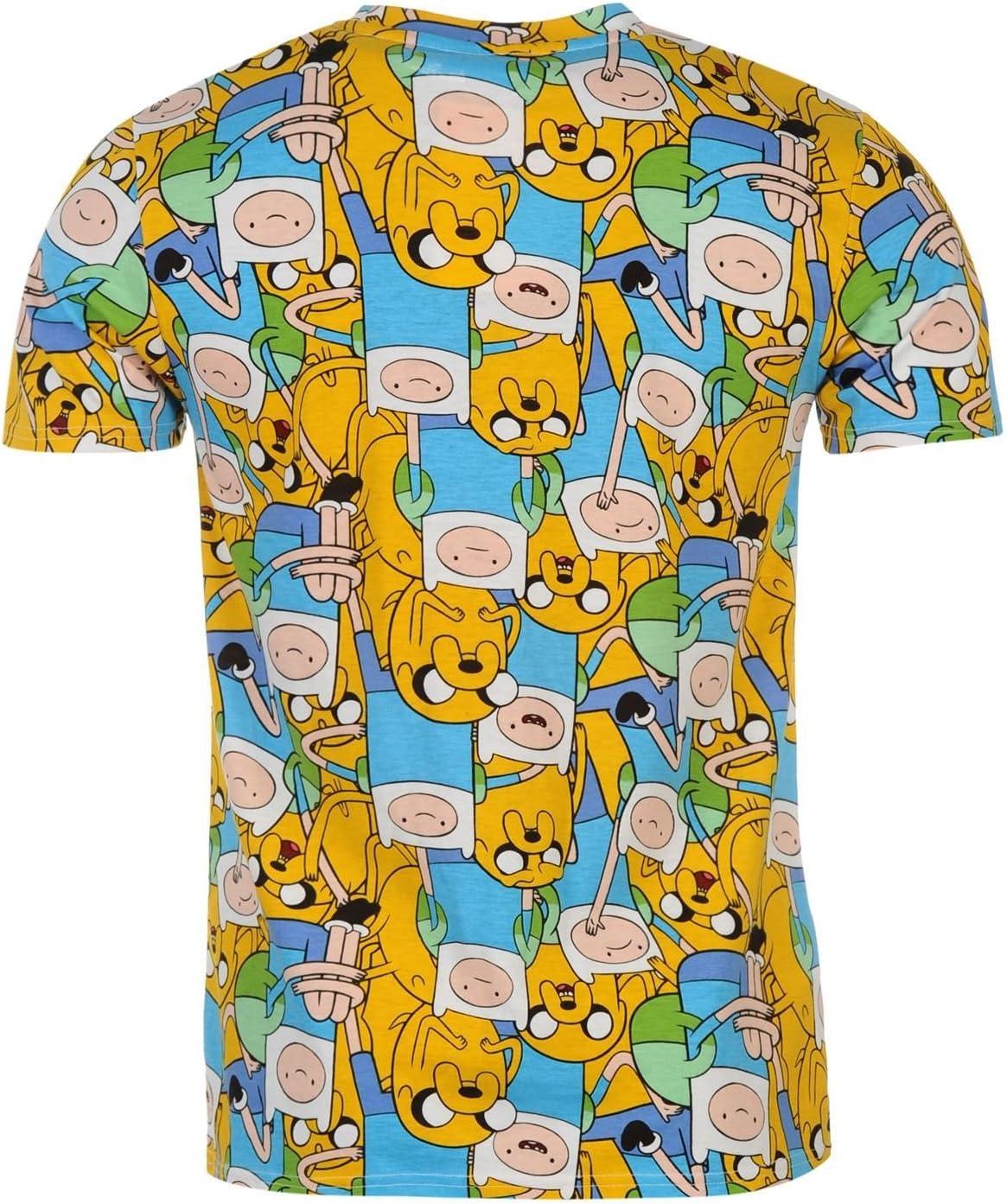 Hora De Aventuras Sub All Over Print camiseta de manga corta para hombre, color azul y amarillo Top T Camisa, Azul/amarillo: Amazon.es: Deportes y aire libre