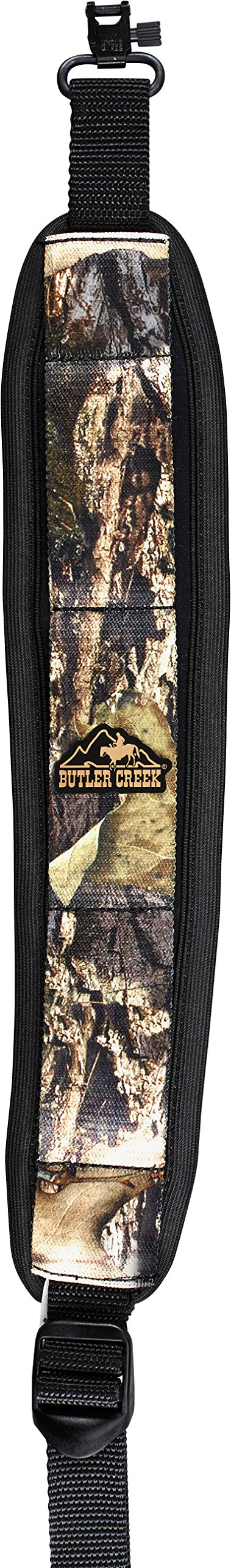 Butler Creek Comfort Stretch Rifle Sling with Swivels, Mossy Oak Break Up Country by Butler Creek