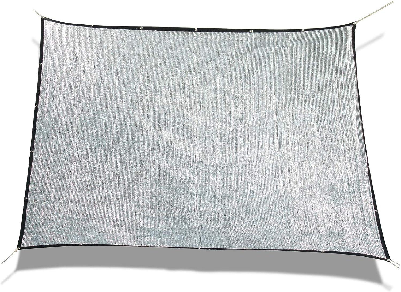 UV-Block Best/ändig Schatten Stoff Schatten Netz zum Garten Terrasse Sun-Block Mesh Pergola Abdeckung /Überdachung Reflektierend Aluminet Sonnensegel 80/% Wei/ß Schatten Tuch Draussen Sonnenschutznetz