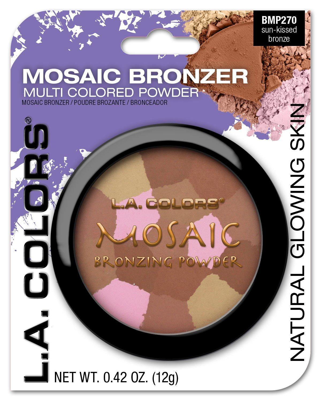 L.A. Colors Mosaic Bronzer/Blush Compact, Golden Bronze, 0.09 Oz L.A. Colors Cosmetics CBMP270