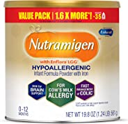 Enfamil Nutramigen Hypoallergenic Colic Baby Formula Lactose Free Milk Powder, 19.8 Ounce - Omega 3 DHA, LGG Probiotics, Iron