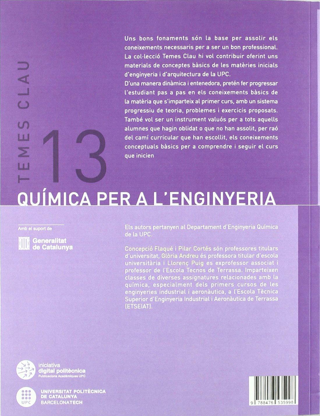 Amazon.com: QUIMICA PER A LENGINYERIA (2ª ED - 2011 ...