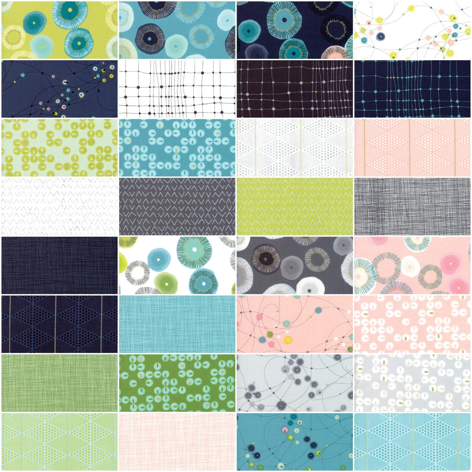 Day in Paris Layer Cake, 42-10'' Precut Fabric Quilt Squares by Brigitte Heitland for Zen Chic by MODA (Image #2)