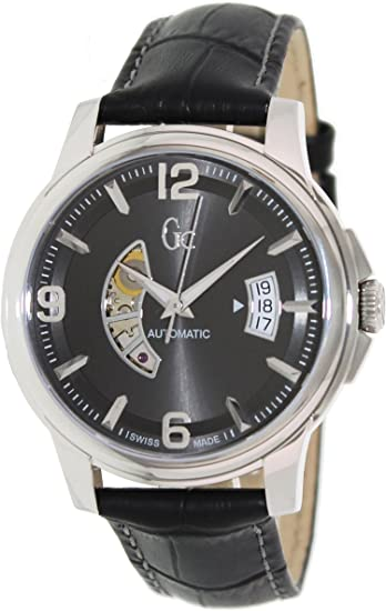 bd8528240 Guess Collection Men's GC Classica X84003G5S Black Leather Swiss Automatic  Watch: Guess Collection: Amazon.ca: Watches