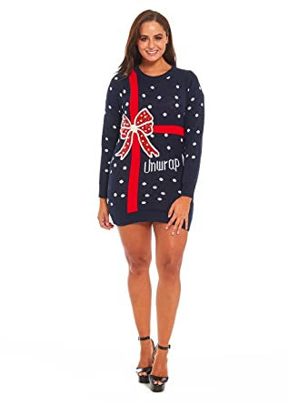 YOU LOOK UGLY TODAY 7 Designs! Ladies Christmas Sweater Dress ...