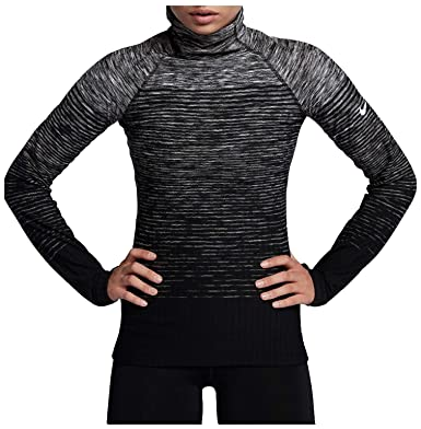 eaa3df83 Nike Women's Pro HyperWarm Training Top (Dark Grey/White, ...