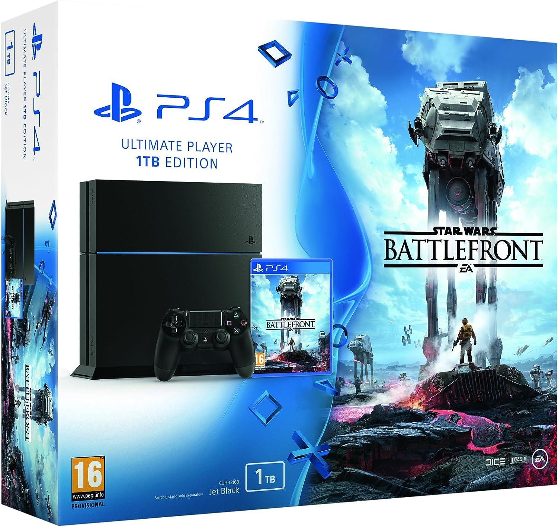 Playstation 4 1 Tb C Chassis + Star Wars Battlefront [Bundle] [Importación Italiana]: Amazon.es: Videojuegos