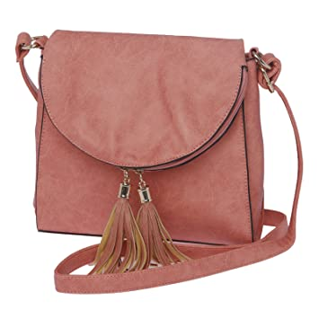 Buy Sling Bags for Women by Fur Jaden, Stylish Pink Colour Branded ...