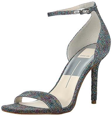 cec63e26df7 Dolce Vita Women s Halo Heeled Sandal Metallic Pink Fabric 6 Medium US