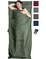 Bahidora Hüttenschlafsack aus Mikrofaser, Schlafsack Inlett, Schlafsack Inlay, Sommerschlafsack, Reiseschlafsack dünn, leicht & kompakt. Ideal für Reisen durch warme Länder