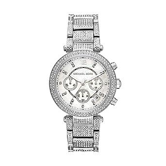 5101709c7d23 Amazon.com  Michael Kors Women s MK6513 - Parker Silver One Size ...