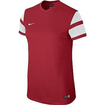 Nike Short Sleeve Top WS Trophy II Jersey Camiseta, Mujer, Rojo/Blanco (