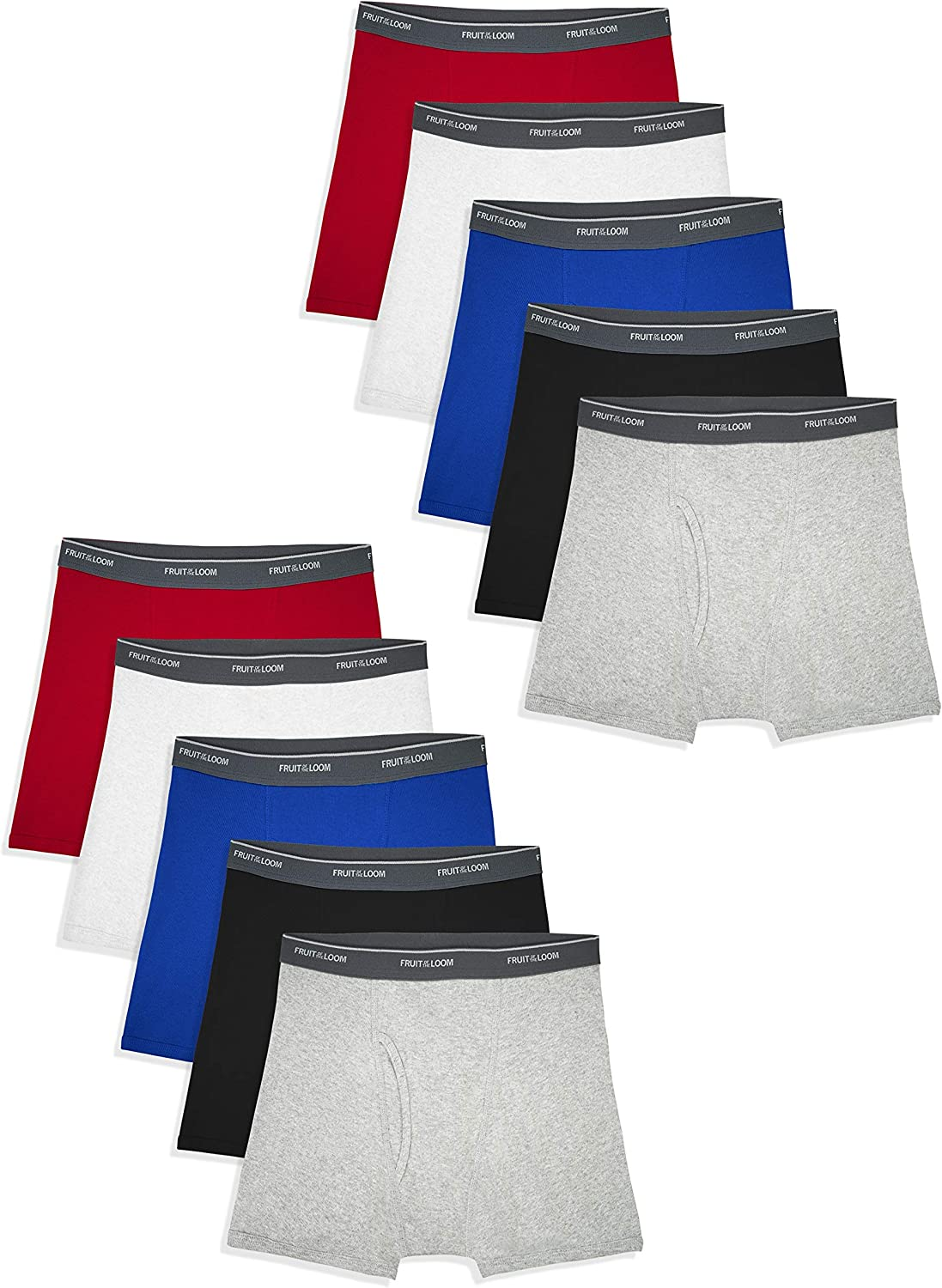 Fruit of the Loom Boys' Boxer Briefs (Assorted Colors): Clothing