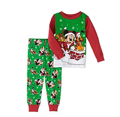 ame sleepwear disney mickey mouse pluto baby boys christmas pajama set tight fit 18 months - Mickey Mouse Christmas Pajamas