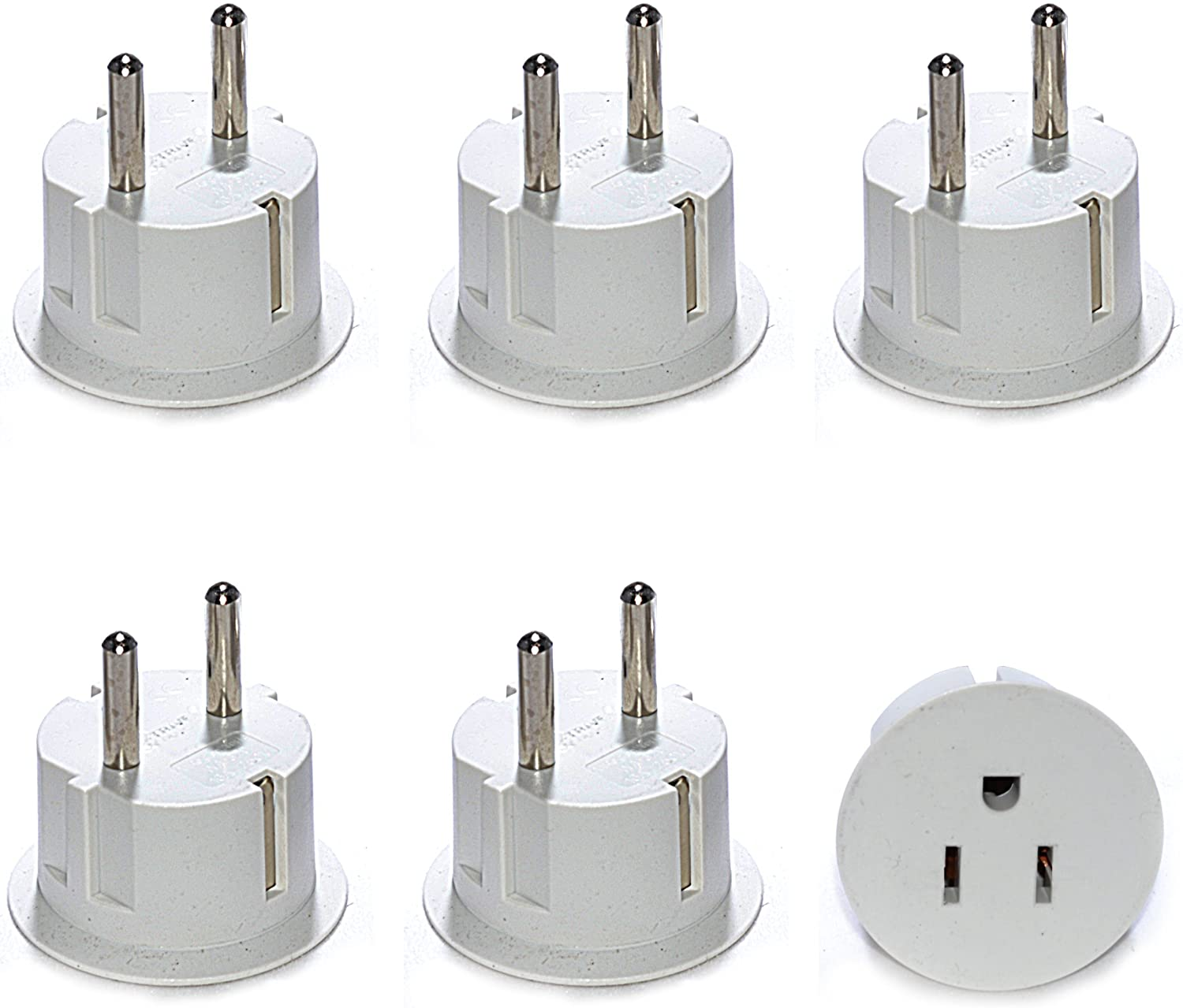 Amazon.com: Orei American USA to European Schuko Germany Plug Adapters CE  Certified Heavy Duty - 6 Pack - Perfect for Travelling with Cell Phones,  Laptops, Cameras & More: Home Audio & Theater