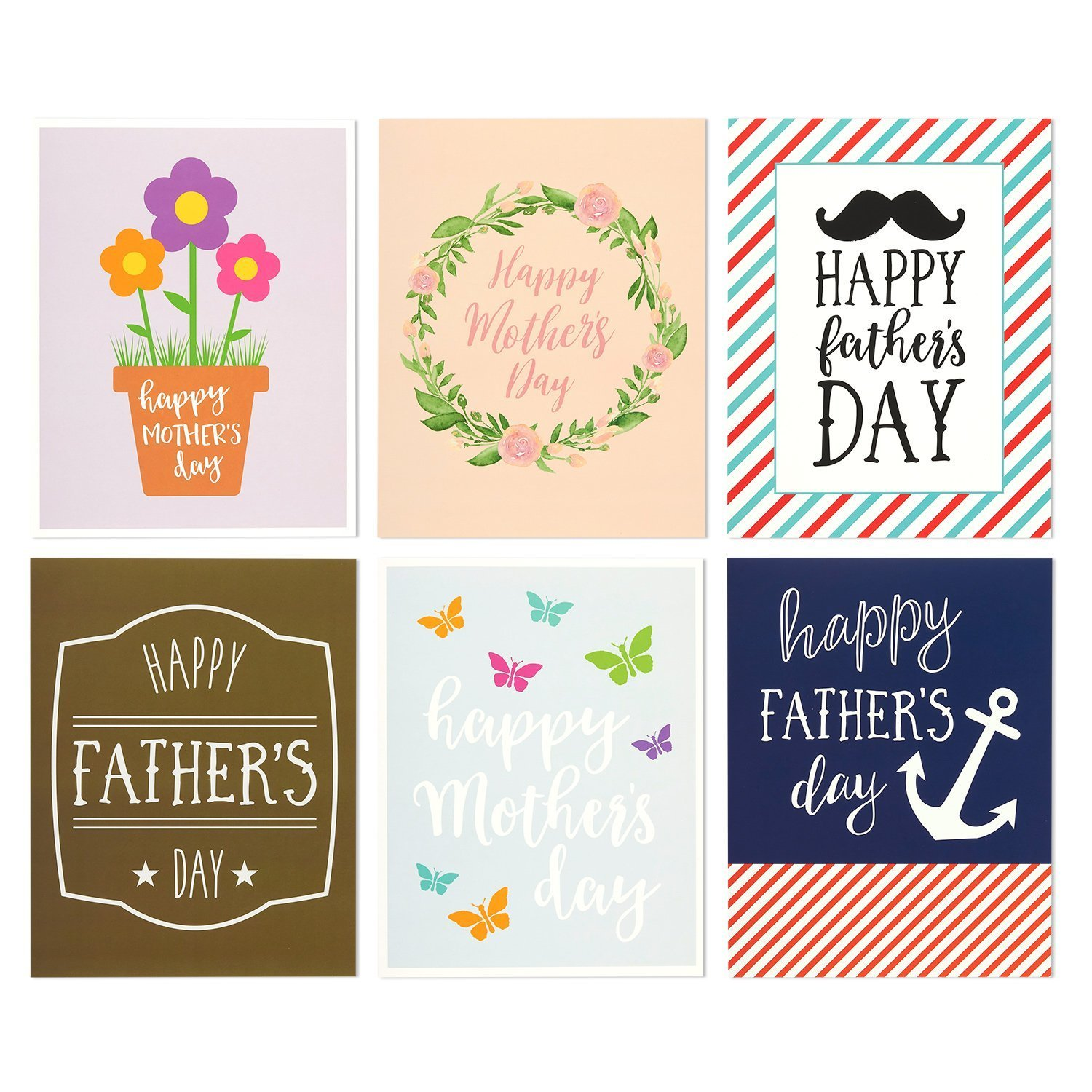 Amazon 12 Pack Jumbo Mothers Day Fathers Day Greeting