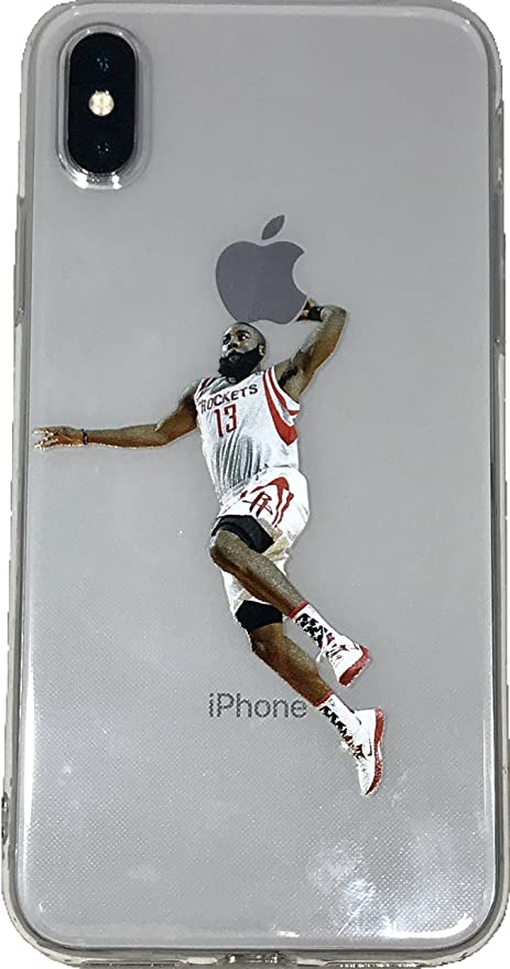 de52d1f4c9c89 Soft TPU Basketball Case with Your Favorite Past and Present Players  (Harden Dunk, iPhone X)