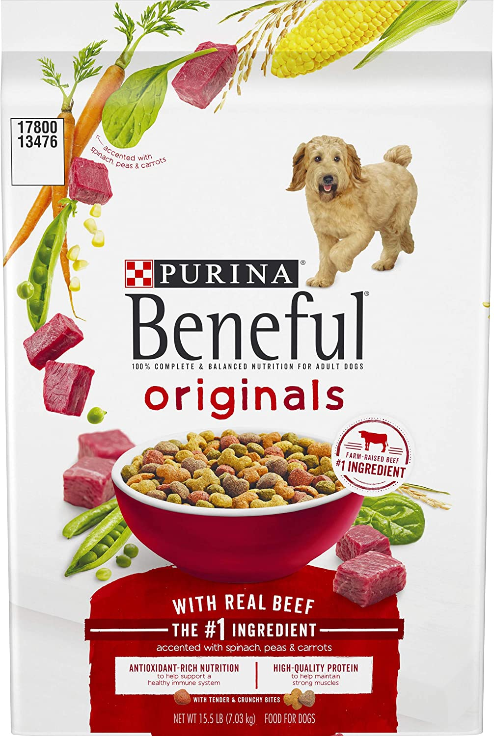 Purina Beneful Originals Adult Dry Dog Food – 15.5 lb. Bag