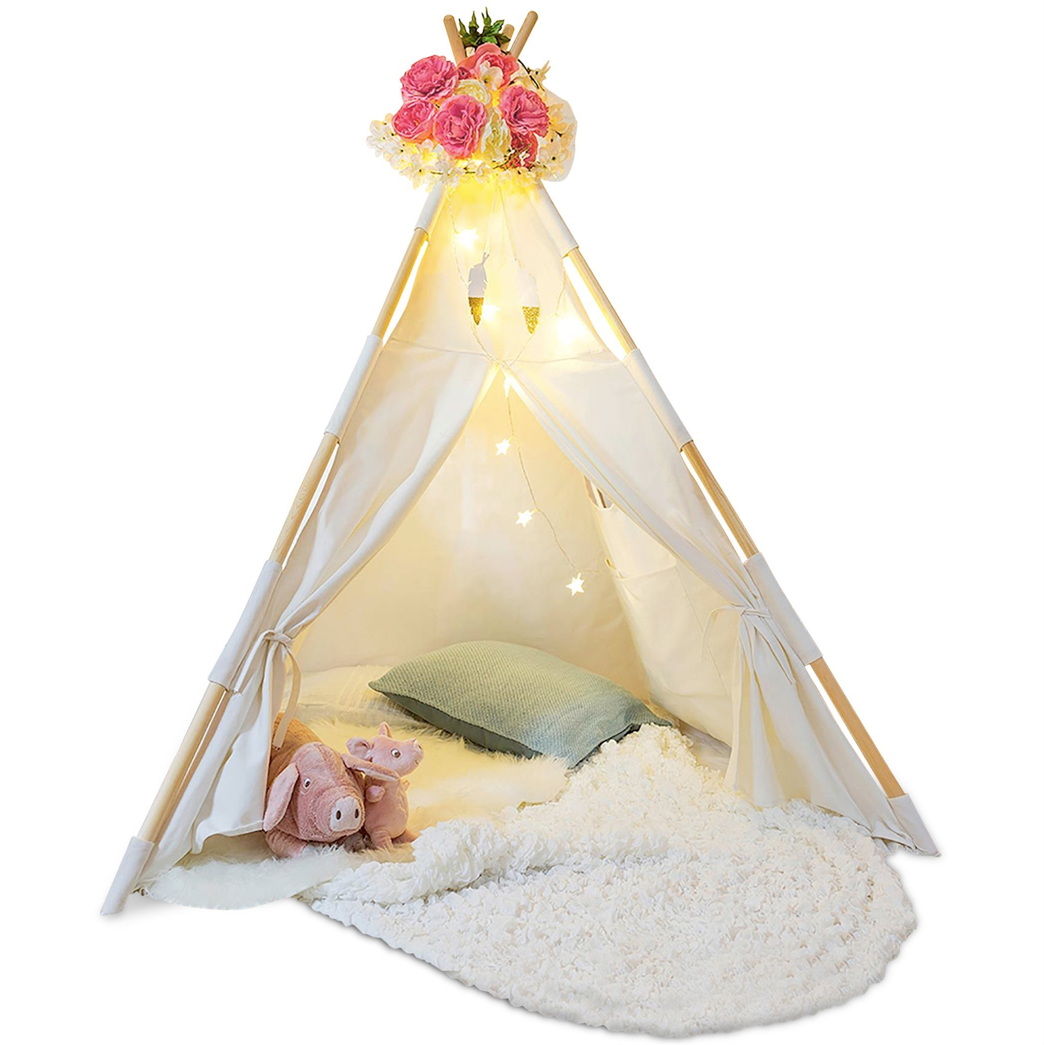 Kids Teepee Tent for Kids - Tee Pee Kids Tent - Kid Teepee Play Tent for Boys & Girls - Kids Play Tent - Kids Tent Indoor - Baby Teepee Tent for Boys - Play Teepee Tents for Kids - Tipi Tent Kids by Tazz Toys