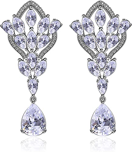 Amazon Com Wedding Earrings For Brides Chandelier Sterling