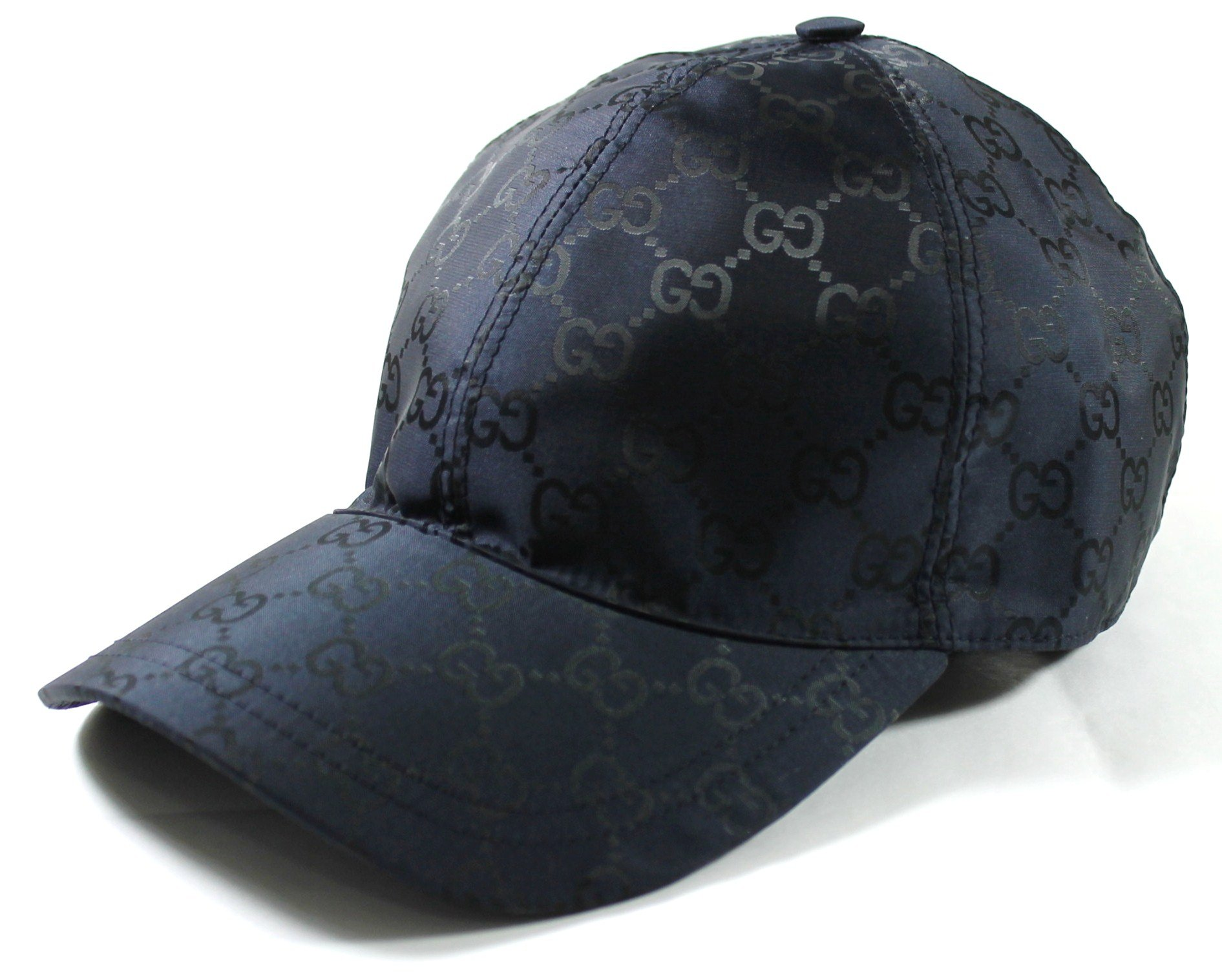 Gucci GG Nylon Baseball Cap, Navy Large 387578 by Gucci
