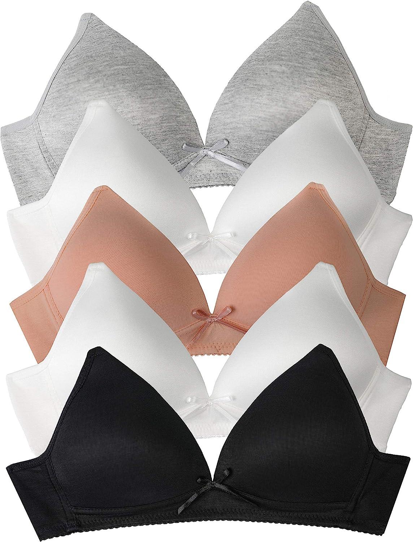 2 x Girls//Ladies Black Or White Bras Sizes 30A 32A 34A 36A
