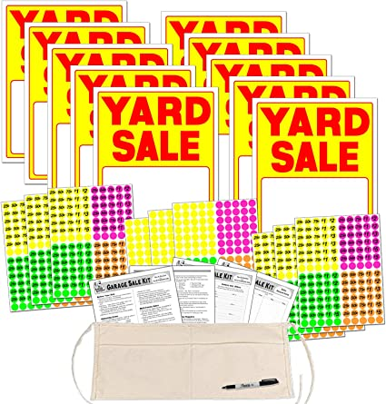Amazon.com: Kit de cartel de venta de patio con pegatinas de ...
