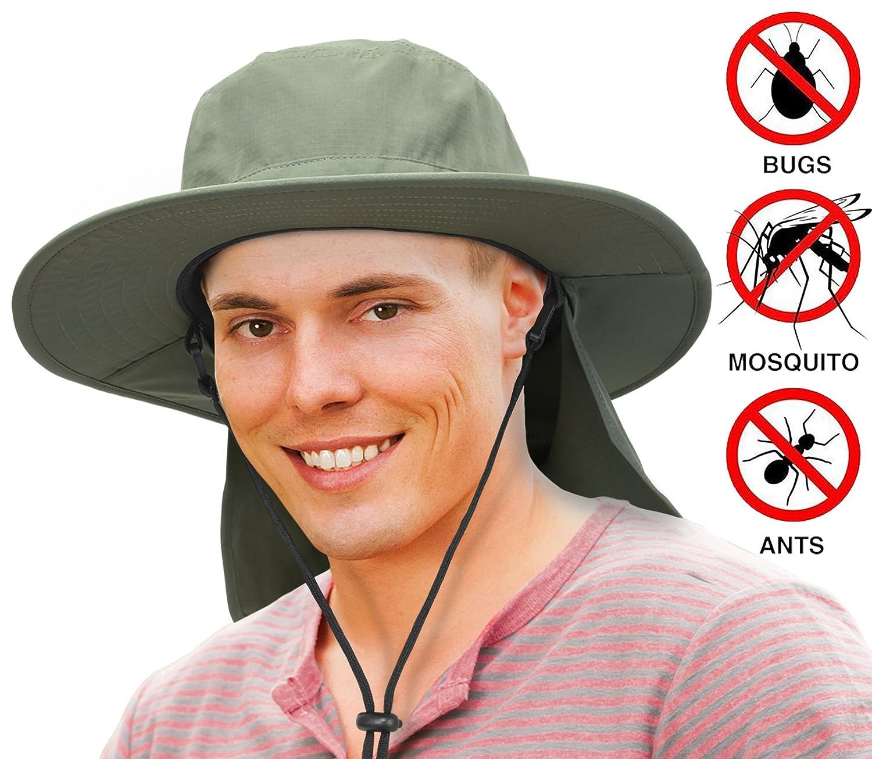 Solaris Safari Sol Sombrero Ala Ancha Con Protección UV cuello solapa Pesca  Senderismo Sombrero al aire 9ed4ab6f0f5