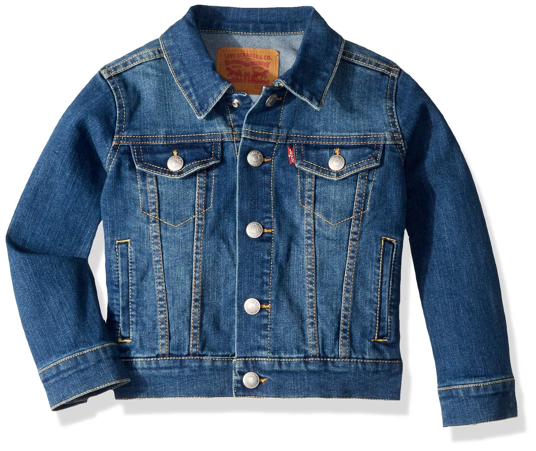Levi's Boys' Little Denim Trucker Jacket, Washed Up 6