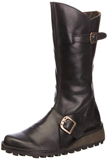 429316cb Amazon.com | FLY London Women's Mes Leather Boot | Mid-Calf