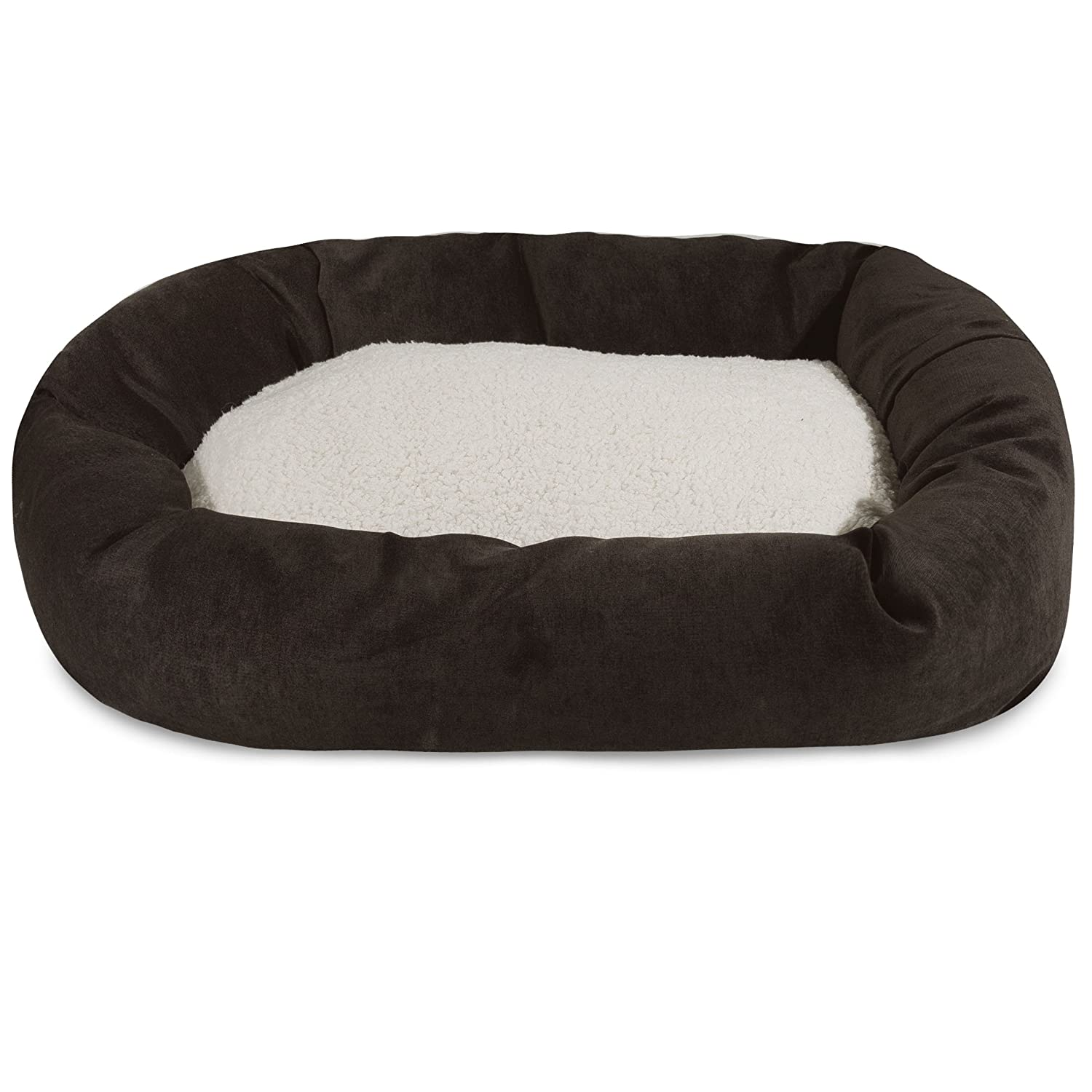 Majestic Pet 24 inch Storm Villa Collection Sherpa Bagel Dog Bed