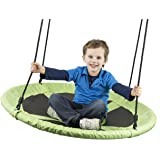 """Flying Squirrel Giant 40"""" Swing - Saucer Tree Swing - Green"""