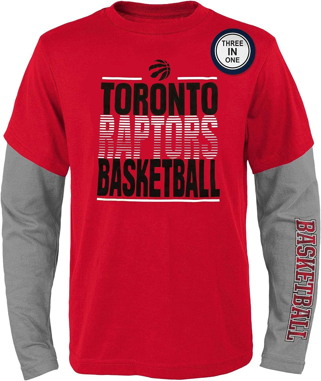 Toronto Raptors Youth Club 3-in-1 Long Sleeve//Short Sleeve T-Shirt Set