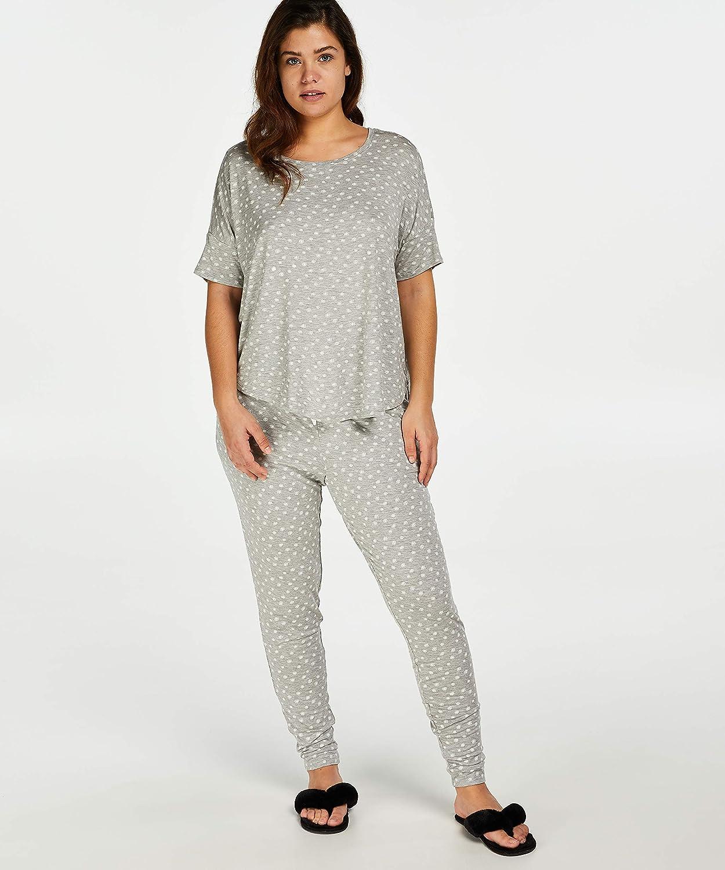 HUNKEM/ÖLLER Damen Pyjamahose Jersey