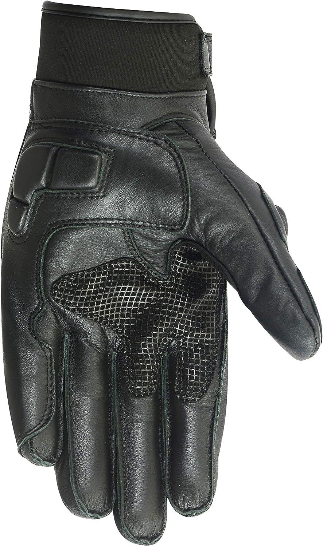 M mit Protektoren Herren Motorrad-Handschuhe aus Leder Texpeed KP Blau erh/ältlich in 4 Farben kurz