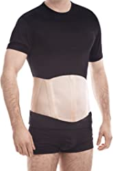 TOROS-GROUP Ergonomic Umbilical Navel Hernia Belt (New Model) / Abdominal Support Brace X-Small Beige