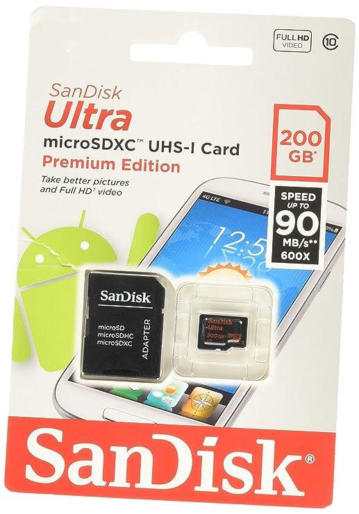 SanDisk Ultra - Tarjeta de memoria microSDHC UHS-I de 256 GB con adaptador SD, velocidad de lectura hasta 80 MB/s, Clase 10