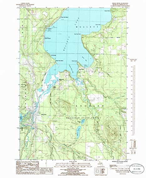 Amazon Com Yellowmaps Indian River Mi Topo Map 1 24000 Scale 7 5