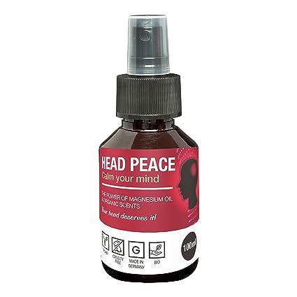 Aceites esenciales de Magnesio para dolores de cabeza HEAD PEACE | Para migrañas leves e intensas